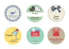 6 Different designs for all occasions, personalized, beautiful, gift accessories. More at www.rockpaperstickers.co.uk
