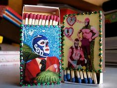 Luchador Matchboxes from Mexico