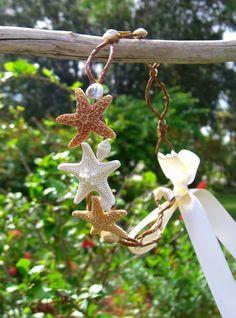 Starfish Beach Wedding Boho Chic Head by sandnsurfcreations, $35.00