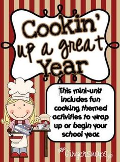 Cooking Up a Great Year - A beginning or end of the year activity