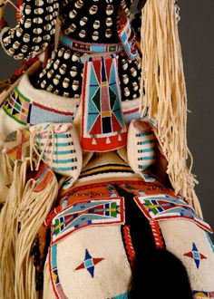 Artist; HolyBear; Beautiful Native American dolls on display at the National Museum of the American Indian, Washington, D.C.