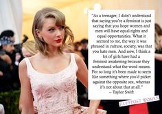 Yeah Taylor! Read more about the friendship that turned Taylor Swift into a feminist http://huff.to/1l9OZK0