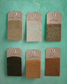 Beach Sand Memory Tags - http://www.sweetpaulmag.com/crafts/beach-sand-memory-tags #sweetpaul