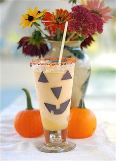 Jack-o-lantern milkshakes!