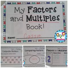 Factors and multiples MEGA pack! This pack includes a mini book that the students can make for understanding and review. $ #factors #multiples #minibook