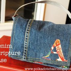 denim crafts, diy idea