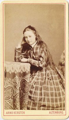 There is an almost Alice in Wonderland-like quality about this immensely pretty young German Victorian lady. #Victorian #19th_century #1800s #photograph #antique #vintage #woman