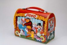 "Bozo the Clown Lunch Box: Bozo the Clown was first created in 1946, and became a popular children's television show as it was franchised at stations all over the country. A Bozo the Clown television show ran from 1961-2001, first as ""Bozo's Circus,"" then as T""he Bozo Show,"" and finally as ""The Bozo Super Sunday Show."""