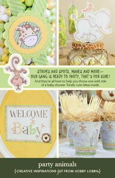 baby shower animal themed baby shower baby shower ideas baby
