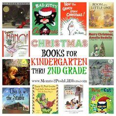 christmas themed books for children in Kindergarten thru 2nd grade