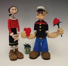 Popeye And Olive Oyl by Terry Sei