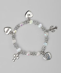 Take a look at this Alexa's Angels Aurora Borealis 'Jesus Loves Me' Bracelet by Alexa's Angels on #zulily today!