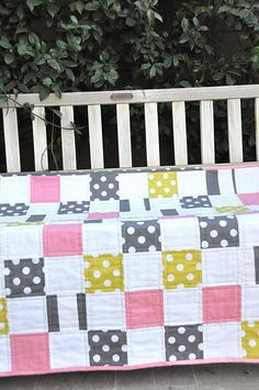 Super cute baby girl quilt