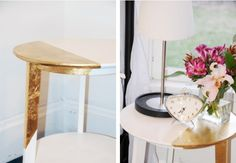 Gold dipped side table