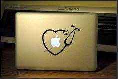 Stethoscope-RN  Apple Macbook Pro & Air LAPTOP Decal/Sticker on Etsy, $7.99