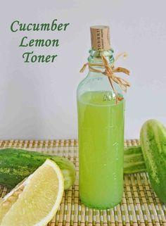 DIY Cucumber Lemon Face Toner - Natural Skin Care Product