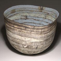"Judit Varga  |  ""Blue ribbon"", semi-porcelain (11x10x11in)"