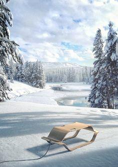 Kalle, a beautiful & comfortable design sledge by Tjark Rumohr