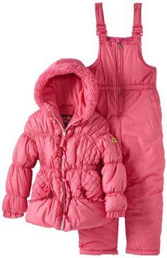 Pink Platinum Girls 2-6X Foil Dot Snowsuit Set - List price: $110.00 Price: $25.00 Saving: $85.00 (77%)