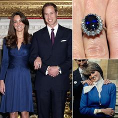 One of Kate's most used pieces of jewelry is also one that didn't cost her, or Prince William, a penny. Kate's engagement ring famously belonged to Princess Diana before William used it to propose to his longtime love. After they got privately engaged, Diana and Prince Charles selected the engagement ring from the official royal jeweler, Garrard, in February 1981. It consists of 14 solitaire diamonds and a 12-carat oval blue Ceylon sapphire set in 18-karat gold. It was notable at the time ...