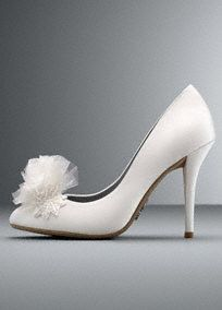 Sequin Embellished Closed Toe Pump, Style VW371462 #davidsbridal #whitebyverawang #shoes