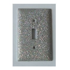 Glitter light switch plate