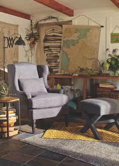 New Woodland Retreat Collection featuring Cost Plus World Market's Charcoal Oscar Chair >> #WorldMarket Home Decor Ideas