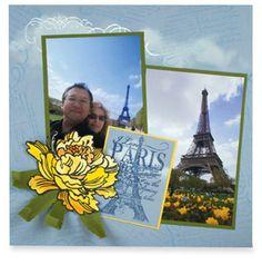 Stampendous® Jumbo Peony Paris Page