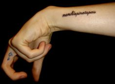 new ink: Mamihlapinatapais  - from the Yaghan language of Tierra del Fuego, it is considered the world's most succinct word and the hardest to translate.    - it means: a look shared by two people, each wishing that the other will initiate something that both desire but that neither one wants to start.