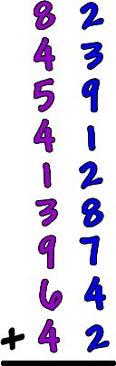 """scratch math"" to help kids keep track of a looooong list of numbers added together {via coolmath4kids.com}"