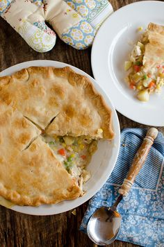 Semi-Homemade Chicken Pot Pie recipe by @nikki striefler (Seeded at the Table). The only thing not home made is the pie crust! Looks absolutely delicious!
