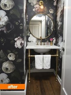 Before & After: A Floral & Fashionable Bathroom Refresh | Apartment Therapy