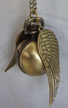 golden snitch Watch necklace  @Deb Smith !!