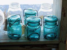 Blue Jars by dog.happy.art, via Flickr