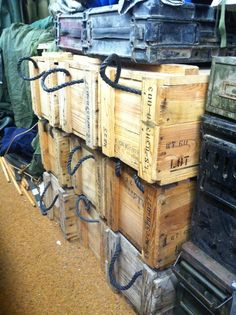 Surplus Chest!! OLD MILITARY CRATE UPCYCLED INTO........