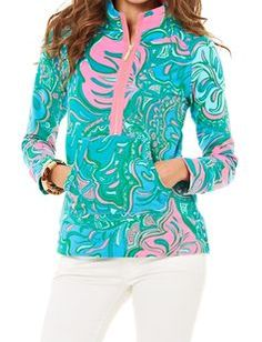 Lilly Pulitzer Skipper Printed Popover in Lilly Lounge
