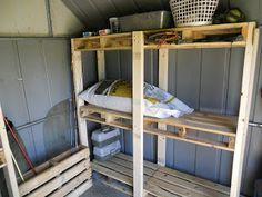 Pallet Palace: Storage Shed Organization System from Upcycled Pallets
