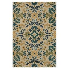 Add a pop of pattern to your foyer or den with this lovely hand-tufted wool rug, featuring a blue and teal scrolling motif.   Produ...