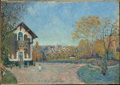 View of Marly-le-Roi from Coeur-Volant 1876 by Alfred Sisley