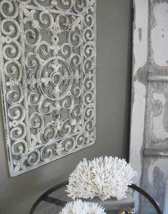 Dollar store craft to make. painted door mat as wall decor. Genius!