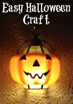 Easy Halloween Craft | Pumpkin Light #Halloween #Pumpkin