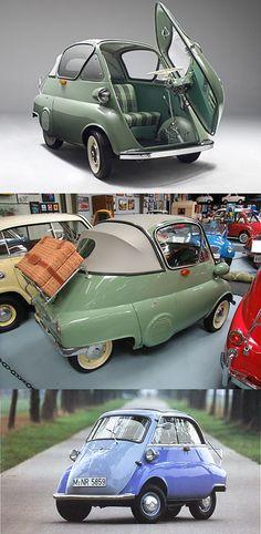sport car, vehicl, wheel, design blogs, old cars, smart car, mini, 1956 bmw, bmw isetta