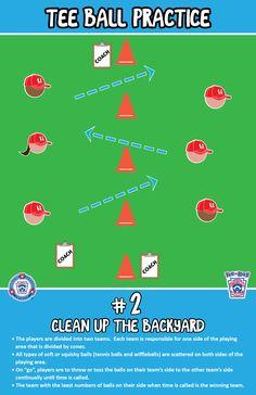 Clean up the Backyard | T-Ball Practice | Little League #tball, #baseball, #softball, #kids