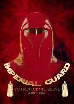 Imperial Guard Propaganda Poster #PressStart