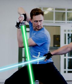 This man was made to swing a light saber.