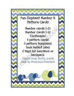 $1 Elephant Preschool Printables