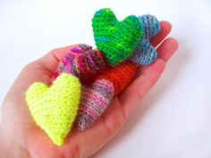 Free Day Valentines corazón crochet patrón