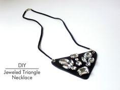 DIY Jeweled Triangle Necklace