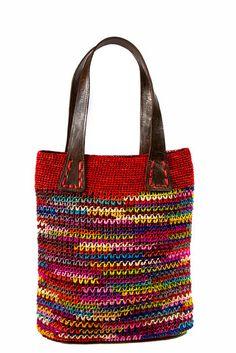 knit crochet purse