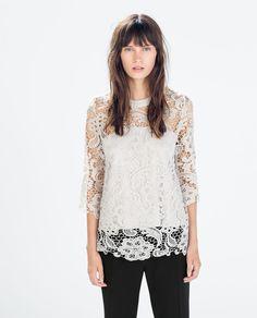 GUIPURE T-SHIRT from Zara